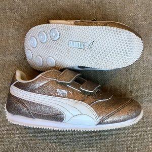 Gold Glitz Toddler Puma Sneakers